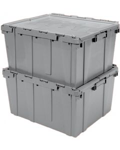 "Buckhorn 27"" x 17"" x 12"" Attached Lid Container - Gray"