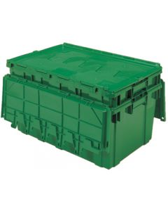 "Buckhorn 27"" x 17"" x 12"" Attached Lid Container - Green"