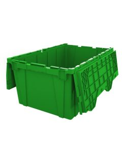 "Ted Thorsen 27"" x 17"" x 12"" Plastic Attached Lid Container - Green"