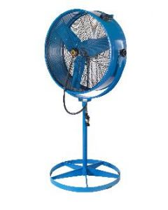 "Airmaster Misting Pedestal Barrel Fan 30"" Propeller Diameter"