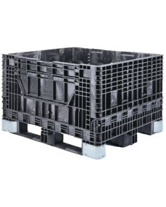 "Buckhorn 48"" x 40"" x 34"" Heavy-Duty Collapsible Bulk Box - Black"