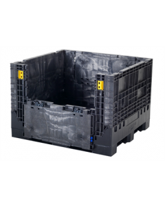 "Buckhorn 48"" x 45"" x 34"" Extra-Duty Collapsible  Bulk Box - Black"
