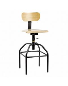 "Bevco 1600 Series Industrial Plywood Adjustable Height Chair 16""-21"""