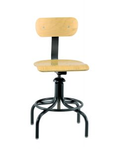 "Bevco 1600 Series Industrial Plywood Adjustable Height Chair 20""-28"""