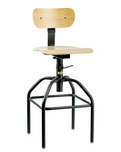 "Bevco 1600 Series Industrial Plywood Adjustable Height Chair 26""-34"""