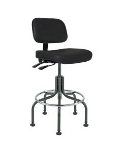 "Bevco Doral 5000 Series Black Vinyl Adjustable Height Chair 25""-30"""
