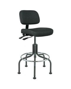 "Bevco Doral 5000 Series Black Fabric Adjustable Height Chair 25""-30"""