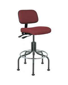 "Bevco Doral 5000 Series Burgundy Fabric Adjustable Height Chair 25""-30"""