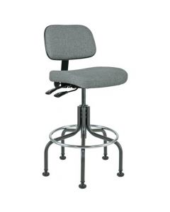 "Bevco Doral 5000 Series Gray Fabric Adjustable Height Chair 25""-30"""