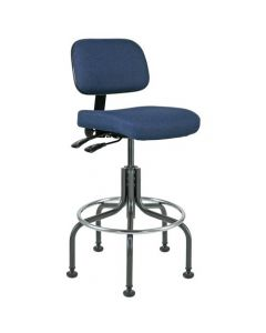 "Bevco Doral 5000 Series Navy Blue Fabric Adjustable Height Chair 25""-30"""