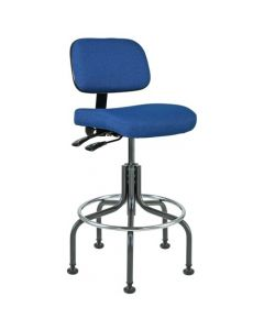 "Bevco Doral 5000 Series Royal Blue Fabric Adjustable Height Chair 25""-30"""