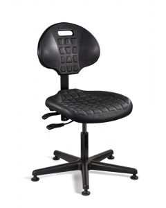 "Bevco Everlast 7000 Series Black Polyurethane Adjustable Height Chair 15""-20"""