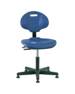"Bevco Everlast 7000 Series Blue Polyurethane Adjustable Height Chair 15""-20"""