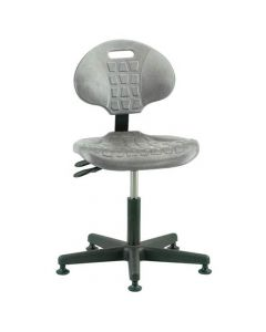"Bevco Everlast 7000 Series Gray Polyurethane Adjustable Height Chair 15""-20"""