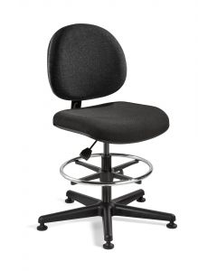 "Bevco Lexington Value-Line Black Fabric Adjustable Height Chair 23""-33"""