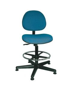 "Bevco Lexington Value-Line Blue Fabric Adjustable Height Chair 23""-33"""
