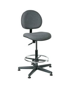 "Bevco Lexington Value-Line Gray Fabric Adjustable Height Chair 23""-33"""