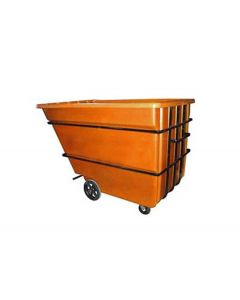 "Bayhead Heavy Duty 2.2 Cubic Yard Tilt Truck 74"" x 51"" x 53.5"" Orange"
