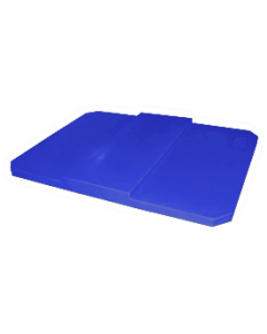 "Bayhead Plastic Domed Lid 75"" x 45"" x 7.5"" for BY-AT-7040 Stacking Pallet Container 73"" x 43"" Blue"