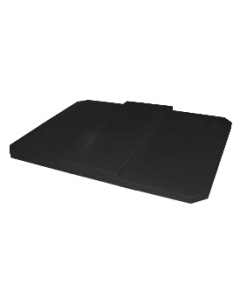 """Bayhead Plastic Domed Lid 75"""" x 45"""" x 7.5"""" for BY-AT-7040 Stacking Pallet Container 73"""" x 43"""" Black"""