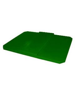 "Bayhead Plastic Domed Lid 75"" x 45"" x 7.5"" for BY-AT-7040 Stacking Pallet Container 73"" x 43"" Green"