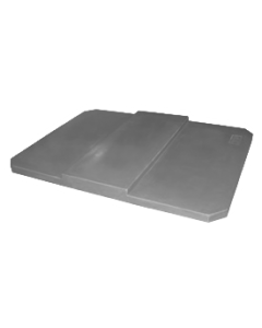 "Bayhead Plastic Domed Lid 75"" x 45"" x 7.5"" for BY-AT-7040 Stacking Pallet Container 73"" x 43"" Gray"