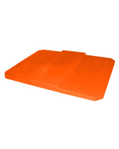 "Bayhead Plastic Domed Lid 75"" x 45"" x 7.5"" for BY-AT-7040 Stacking Pallet Container 73"" x 43"" Orange"