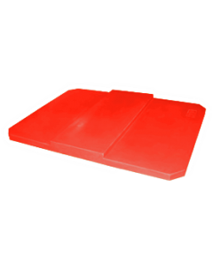 "Bayhead Plastic Domed Lid 75"" x 45"" x 7.5"" for BY-AT-7040 Stacking Pallet Container 73"" x 43"" Red"