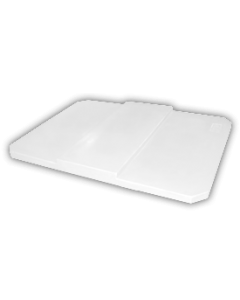 "Bayhead Plastic Domed Lid 75"" x 45"" x 7.5"" for BY-AT-7040 Stacking Pallet Container 73"" x 43"" White"