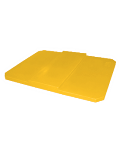 "Bayhead Plastic Domed Lid 75"" x 45"" x 7.5"" for BY-AT-7040 Stacking Pallet Container 73"" x 43"" Yellow"