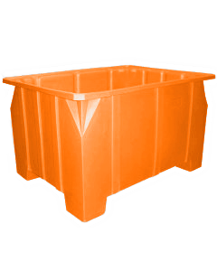 "Bayhead Stacking Pallet Container 47"" x 42"" x 24"" Orange"