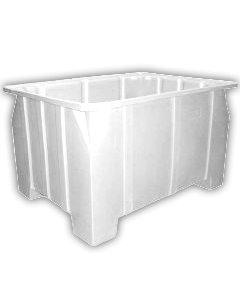 "Bayhead Stacking Pallet Container 47"" x 42"" x 24"" White"