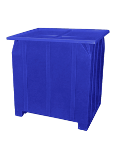 "Bayhead Plastic Lid 48"" x 43"" x 2"" for BY-GG-24, BY-GG-36 and BY-GG-48  Stacking Pallet Containers 47"" x 42"" Blue"
