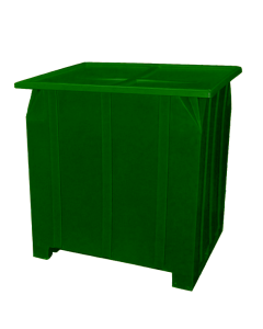 "Bayhead Plastic Lid 48"" x 43"" x 2"" for BY-GG-24, BY-GG-36 and BY-GG-48  Stacking Pallet Containers 47"" x 42"" Green"