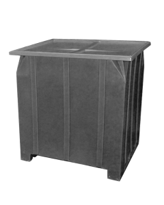 "Bayhead Plastic Lid 48"" x 43"" x 2"" for BY-GG-24, BY-GG-36 and BY-GG-48  Stacking Pallet Containers 47"" x 42"" Gray"