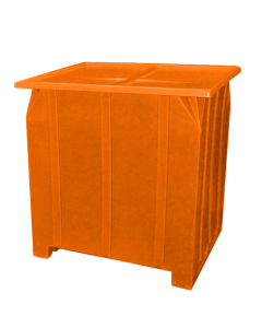 "Bayhead Plastic Lid 48"" x 43"" x 2"" for BY-GG-24, BY-GG-36 and BY-GG-48  Stacking Pallet Containers 47"" x 42"" Orange"