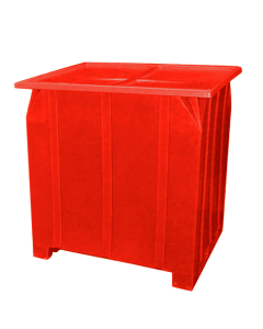 "Bayhead Plastic Lid 48"" x 43"" x 2"" for BY-GG-24, BY-GG-36 and BY-GG-48  Stacking Pallet Containers 47"" x 42"" Red"
