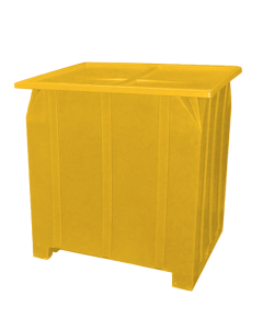 "Bayhead Plastic Lid 48"" x 43"" x 2"" for BY-GG-24, BY-GG-36 and BY-GG-48  Stacking Pallet Containers 47"" x 42"" Yellow"
