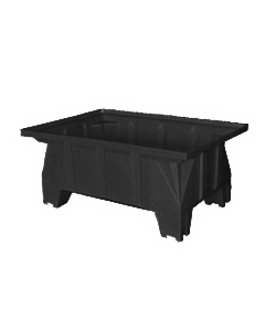 "Bayhead Stacking Pallet Container 40"" x 28"" x 16"" Black"