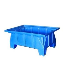 "Bayhead Stacking Pallet Container 40"" x 28"" x 16"" Blue"