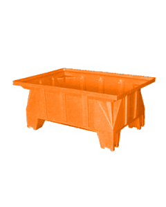 "Bayhead Stacking Pallet Container 40"" x 28"" x 16"" Orange"