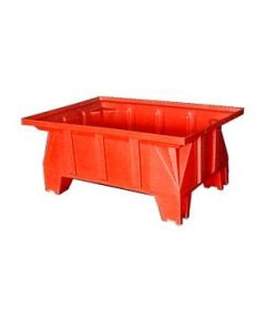 "Bayhead Stacking Pallet Container 40"" x 28"" x 16"" Red"