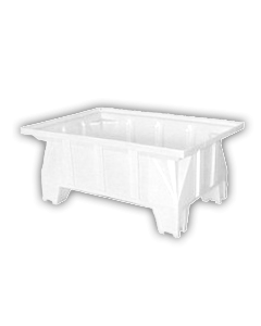 "Bayhead Stacking Pallet Container 40"" x 28"" x 16"" White"