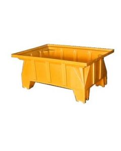 "Bayhead Stacking Pallet Container 40"" x 28"" x 16"" Yellow"