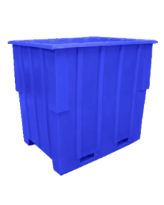 """Bayhead Large Capacity Nestable Pallet Container 57"""" x 41"""" x 53"""" Blue"""