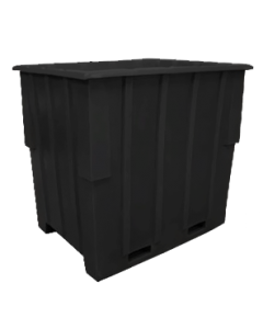"Bayhead Large Capacity Nestable Pallet Container 57"" x 41"" x 53"" Black"