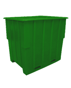"Bayhead Large Capacity Nestable Pallet Container 57"" x 41"" x 53"" Green"