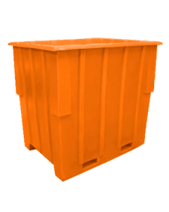 "Bayhead Large Capacity Nestable Pallet Container 57"" x 41"" x 53"" Orange"