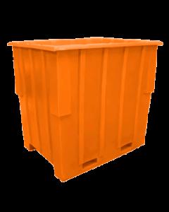 "Bayhead Large Capacity Nestable Pallet Container 57"" x 41"" x 53"" Orange"