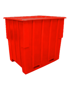 "Bayhead Large Capacity Nestable Pallet Container 57"" x 41"" x 53"" Red"